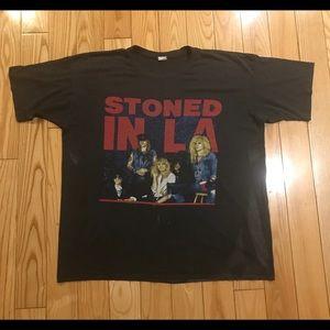Vintage 1989 Guns N' roses T shirt Stoned in LA